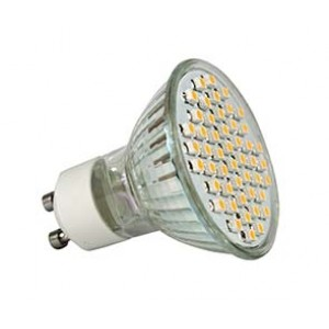 LED Spot MR 16, GU10, 48 SMD 3W