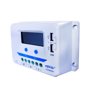 Solcelleregulator 20 Amp Digital m/USB lading