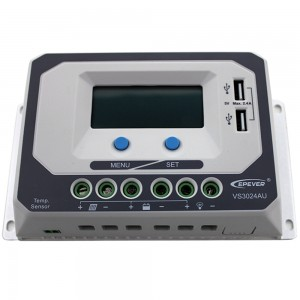 Solcelleregulator 30 Amp Digital m/USB lading